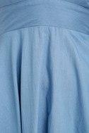 I'm Smitten Blue Chambray Halter Dress 7