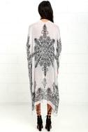 Exotic Sol Black and Grey Print Kimono Top 4