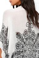Exotic Sol Black and Grey Print Kimono Top 5