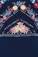 All My Life Navy Blue Embroidered Maxi Dress 6