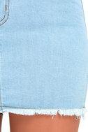 Pop and Lock Light Wash Denim Mini Skirt 6