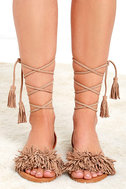 Cute Black Suede Sandals Lace Up Sandals Flat Sandals