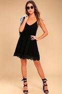 Rhiannon Black Lace Babydoll Dress 2