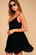 Rhiannon Black Lace Babydoll Dress 3