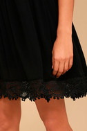 Rhiannon Black Lace Babydoll Dress 5