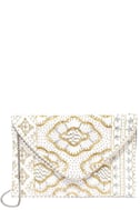 Etched in Stone Cream Beaded Clutch 3