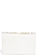 Etched in Stone Cream Beaded Clutch 5