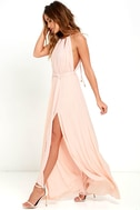 Gleam and Glide Blush Pink Maxi Dress 2
