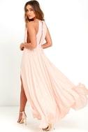 Gleam and Glide Blush Pink Maxi Dress 3
