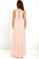 Gleam and Glide Blush Pink Maxi Dress 4