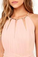 Gleam and Glide Blush Pink Maxi Dress 5