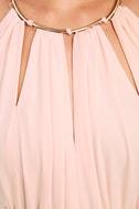 Gleam and Glide Blush Pink Maxi Dress 6