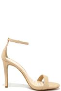 Loveliness Nude Nubuck Ankle Strap Heels 3