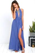 Magical Movement Periwinkle Blue Wrap Maxi Dress 2