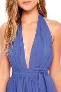 Magical Movement Periwinkle Blue Wrap Maxi Dress 5