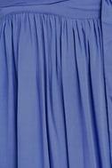 Magical Movement Periwinkle Blue Wrap Maxi Dress 6