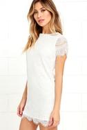 Take Me to Brunch Ivory Lace Shift Dress 3