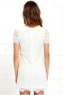 Take Me to Brunch Ivory Lace Shift Dress 4