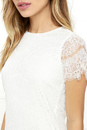 Take Me to Brunch Ivory Lace Shift Dress 5