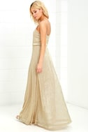 Friend of the Glam Gold Maxi Dress 3