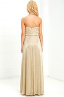 Friend of the Glam Gold Maxi Dress 4