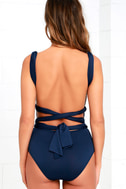 I Dare Say Navy Blue Convertible Bodysuit 5