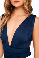I Dare Say Navy Blue Convertible Bodysuit 6