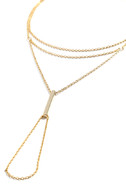 Graceful Delicacy Gold Hand Chain 3