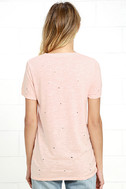 In the Raw Distressed Peach Tee 4