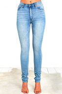 Cheap Monday Second Skin Light Wash High-Waisted Skinny Jeans 3