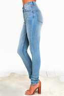 Cheap Monday Second Skin Light Wash High-Waisted Skinny Jeans 4