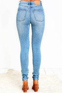 Cheap Monday Second Skin Light Wash High-Waisted Skinny Jeans 5