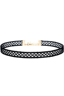 Tricycle Race Black Lace Choker Necklace 2