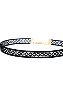 Tricycle Race Black Lace Choker Necklace 4