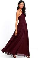 Everlasting Enchantment Burgundy Maxi Dress 2