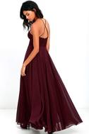 Everlasting Enchantment Burgundy Maxi Dress 3