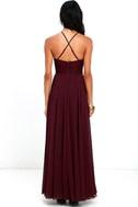 Everlasting Enchantment Burgundy Maxi Dress 4
