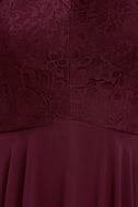 Everlasting Enchantment Burgundy Maxi Dress 6