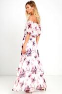 Infinite Love Ivory Floral Print Off-the-Shoulder Maxi Dress 3