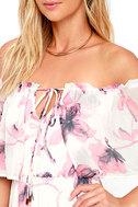 Infinite Love Ivory Floral Print Off-the-Shoulder Maxi Dress 5