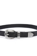 Quick on the Draw Black and Silver Double Buckle Belt 3