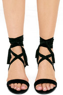 This Moment Black Suede Lace-Up Heels 2