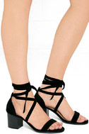 This Moment Black Suede Lace-Up Heels 3
