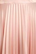 Epic Night Blush Pink Satin Maxi Dress 6