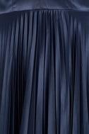 Epic Night Navy Blue Satin Maxi Dress 6