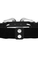 Fleur-Ever and Ever Black and Silver Double Buckle Belt 4