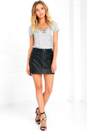 Enjoy the Ride Heather Grey Lace-Up Top 2
