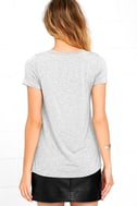 Enjoy the Ride Heather Grey Lace-Up Top 4