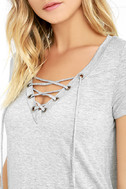 Enjoy the Ride Heather Grey Lace-Up Top 5