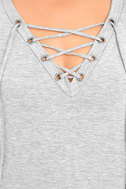 Enjoy the Ride Heather Grey Lace-Up Top 6